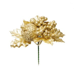 Pick Glitter Ouro Natal - 01 unidade - Cromus Natal - Rizzo Embalagens