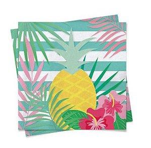 Guardanapo de Papel 25cm Festa Tropical Flamingo - 20 unidades - Cromus - Rizzo Festas