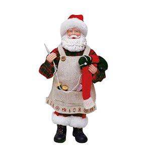 Noel Costureiro Vermelho 28cm - 01 unidade - Cromus Natal - Rizzo Embalagens