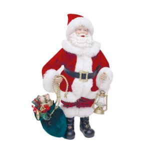 Noel Decorativo com Lanterna 28cm - 01 unidade - Cromus Natal - Rizzo Embalagens
