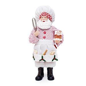 Noel Decorativo Chef 28cm - 01 unidade - Cromus Natal - Rizzo Embalagens