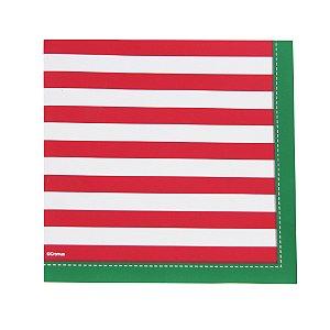 Guardanapo de Papel Natal Classico Vermelho/Verde/Branco 32,5cm - 20 folhas - Cromus Natal - Rizzo Embalagens