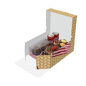 Caixa Kit Festa com Tampa Palha Ref.2693 - 1 unidade - Rizzo Embalagens
