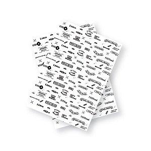 Papel Manteiga 30x40 Textos - 50 unidades - Ref.2635- Rizzo Embalagens