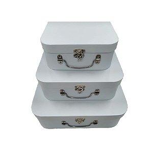 Kit Maleta Branco - 03 Unidades - Rizzo Embalagens