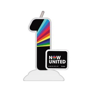 Vela Temática Festa Now United N°1 - 01 Unidade - Festcolor - Rizzo Festas