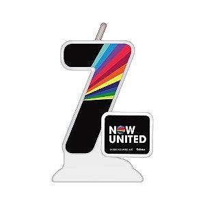 Vela Temática Festa Now United N°7 - 01 Unidade - Festcolor - Rizzo Festas