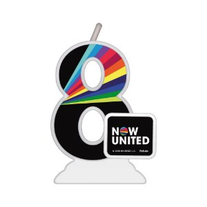 Vela Temática Festa Now United N°8 - 01 Unidade - Festcolor - Rizzo Festas