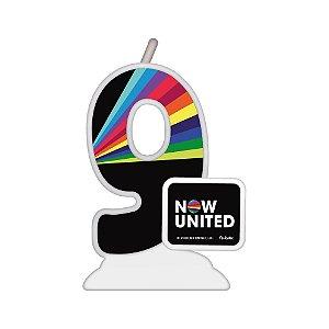 Vela Temática Festa Now United N°9 - 01 Unidade - Festcolor - Rizzo Festas