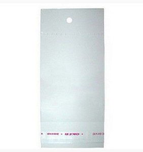 Saco Adesivado c/ Furo para Pendurar 7,5cm x 10cm- Rizzo Embalagens