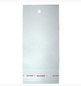 Saco Adesivado c/ Furo para Pendurar 7,5cm x 13cm- Rizzo Embalagens