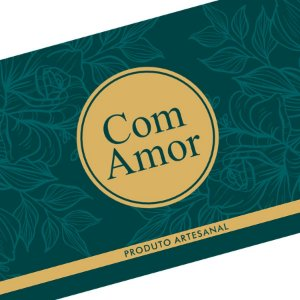 Rótulo e Tira Decorativa com Amor - Tam P / M / G - 5 unidades - Rizzo Embalagens