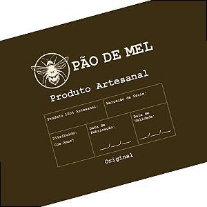 Rótulo e Tira Decorativa Pão de Mel - Tam P / M / G - 5 unidades - Rizzo Embalagens