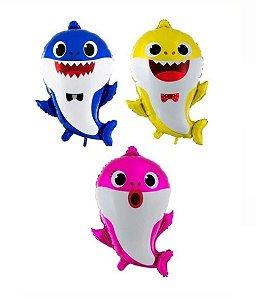 Balão Metalizado Festa Baby Shark 20'' 55cm - Rizzo Embalagens