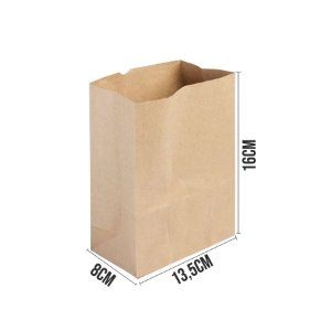 Saco de Papel Kraft Ref 3344 - 13,5x8x16cm - 10 unidades - Rizzo Embalagens