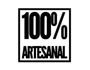 Carimbo Artesanal 100% Artesanal - G - 6,0x6,1cm - Cod.RI-034 - Rizzo Embalagens