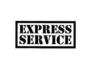 Carimbo Artesanal Express Service - M - 6,0x2,7cm - Cod.RI-046 - Rizzo Embalagens