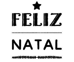 Carimbo Artesanal Feliz Natal c/Estrela - M - 6,0x7,0cm - Cod.RI-043 - Rizzo Embalagens