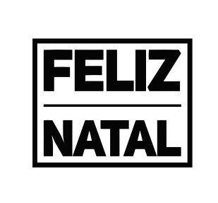 Carimbo Artesanal Feliz Natal - M - 6,0x4,8cm - Cod.RI-038 - Rizzo Embalagens