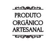 Carimbo Artesanal Produto Orgânico Artesanal - G - 5,4x5,6cm - Cod.RI-006 - Rizzo Embalagens