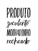 Carimbo Artesanal Produto Suculento Molhadinho Recheado - G - 4,1x6,3cm - Cod.RI-017- Rizzo Embalagens