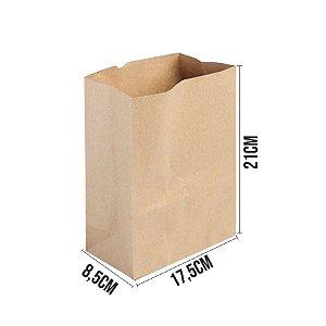 Saco de Papel Kraft Ref 3351 - 17,5x8,5x21cm - 10 unidades - Rizzo Embalagens