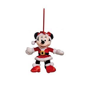 Minnie de Pelúcia Roupa Vermelha 15cm - 01 unidade - Natal Disney - Cromus Natal - Rizzo Embalagens