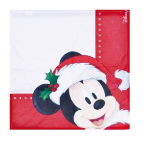 Guardanapo de Tecido Mickey Natal Disney 40x40cm - 04 unidades - Cromus Natal - Rizzo Embalagens