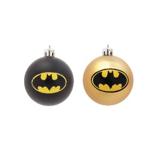 Bola Batman Sortido Preto/Dourado 8cm - 4 unidades - Cromus - Rizzo Embalagens