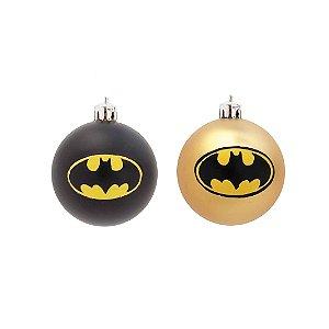 Bola Batman Sortido Preto/Dourado 10cm - 2 unidades - Cromus - Rizzo Embalagens