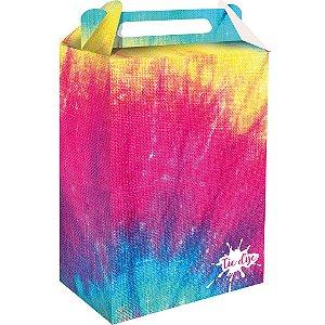 Caixa Surpresa Festa Tie Dye - 8 unidades - Festcolor - Rizzo Festas