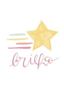 Estampa para Moldura - Estrela Cadente Brilho - 01 unidade - Rizzo Embalagens e Festas
