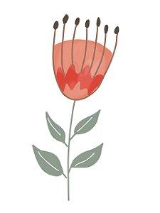 Estampa para Moldura - Flor Vermelha - 01 unidade - Rizzo Embalagens e Festas