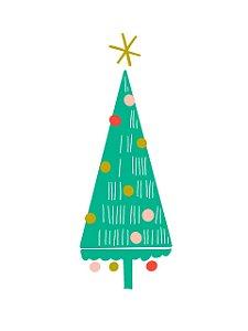 Estampa para Moldura - Árvore de Natal - 01 unidade - Rizzo Embalagens e Festas