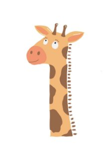 Estampa para Moldura - Girafa - 01 unidade - Rizzo Embalagens e Festas