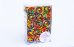 Forminha para Doces Finos - Bela Tie Dye Now United - 30 unidades - Decora Doces - Rizzo Festas