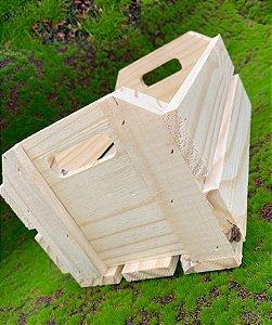 Caixote de Madeira Rústico Cru - 01 unidade - Rizzo Embalagens e Festas