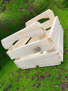 Caixote de Madeira Quitandinha XG Rústico Crú - 01 unidade - Rizzo Embalagens e Festas