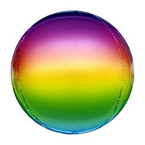 """Balão Metalizado 20"""" Esfera Degradê Arco-íris - Mundo Bizarro - Rizzo festas"""