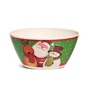Bowl de Bamboo Noel 15cm - 01 unidade - Cromus Natal - Rizzo Embalagens