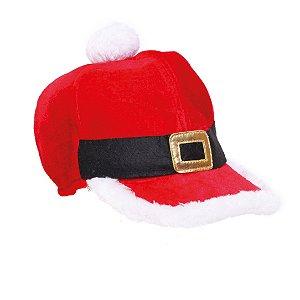 Boné Natalino Vermelho Branco e Preto - 01 unidade - Cromus Natal - Rizzo Embalagens