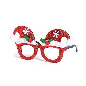 Óculos com Gorro Noel Floco de Neve - 01 unidade - Cromus Natal - Rizzo Embalagens