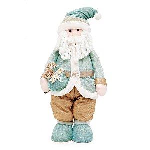 Noel em Pé com Saco de Presente 60cm - 01 unidade - Neo Mint - Cromus Natal - Rizzo Embalagens