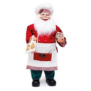 Noel Cozinheiro CandyCane Vermelho e Branco 62cm - 01 unidade - Cromus Natal - Rizzo Embalagens