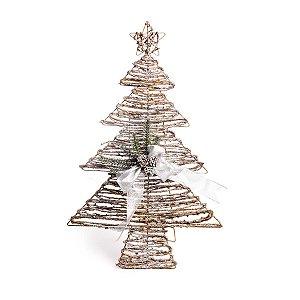 Árvore com Laço e Estrela Natural 70cm - 01 unidade - Cromus Natal - Rizzo Embalagens