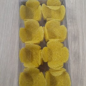Forminha para Doces Finos - Caixeta Tela Amarela - 50 unidades - MaxiFormas