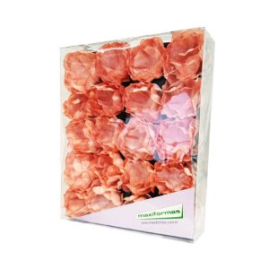 Forminha para Doces Finos - La Belle Pintura Artesanal Salmon- 40 unidades - MaxiFormas Rizzo