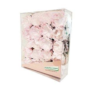 Forminha para Doces Finos - La Belle Pintura Artesanal Rosa Claro- 40 unidades - MaxiFormas Rizzo