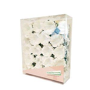 Forminha para Doces Finos - La Belle Pintura Artesanal Branco- 40 unidades - MaxiFormas Rizzo