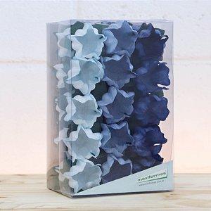 Forminha para Doces Finos - La Belle Mista 3 Tons Azul - 30 unidades - MaxiFormas